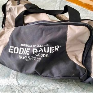 Eddie Bauer canvas duffel bag